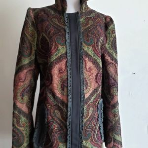 HOSS INTROPIA Anthropologie Long Tapestry Coat S